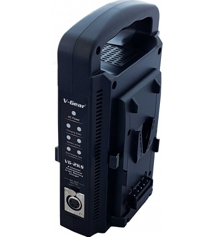 V-Gear VG-2KS Intelligent 2Ch Simultaneous V-Lock Charger & UPS