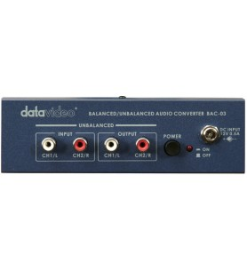 Datavideo BAC-03 Bal to Unbal & Unbal to Bal Audio Conv.
